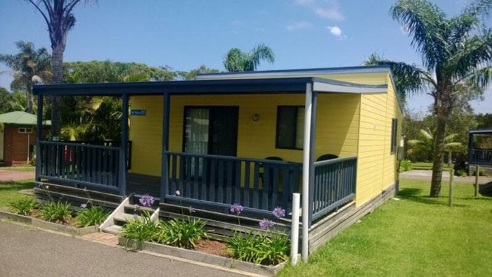 Cabins for sale at Beachside Village Ulladulla
