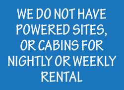 we do not have nightly or weekly rentals